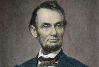 Abraham Lincoln 1864 American School, Private Collection / Peter Newark American Pictures
