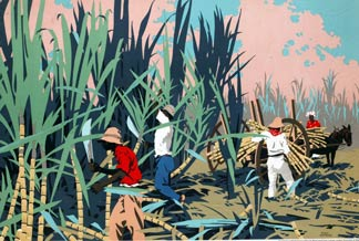 Reaping Sugar Canes in the West Indies - Franck Newbould