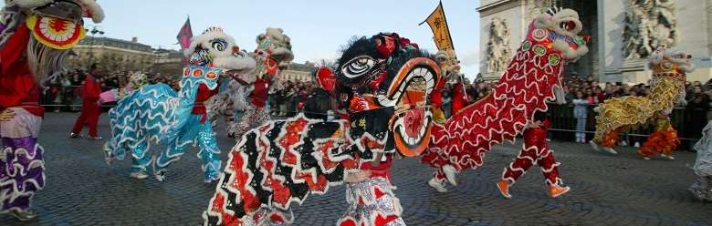 Chinese New Year in Paris (photo)/Godong/UIG/The Bridgeman Art Library