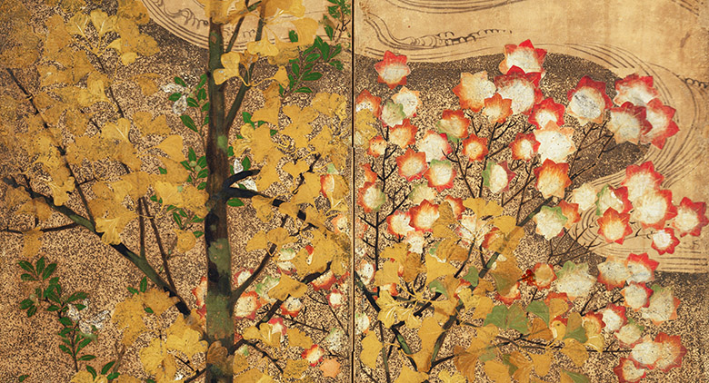 Autumn Tree, Japanese School, (17th century) / Private Collection / Photo © Boltin Picture Library / Bridgeman Images