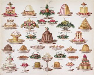 Plate IV from 'Beeton's Everyday Cookery and Housekeeping Book', edited by Mrs Isabella Beeton, 1888 by English School, (19th century) British Library, London, UK