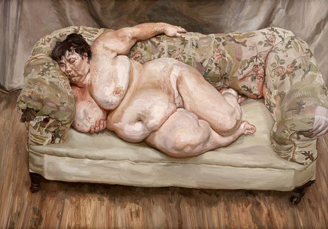 Benefits Supervisor Sleeping, 1995 (oil on canvas) by Lucian Freud(1922-2011) / Private Collection / © The Lucian Freud Archive