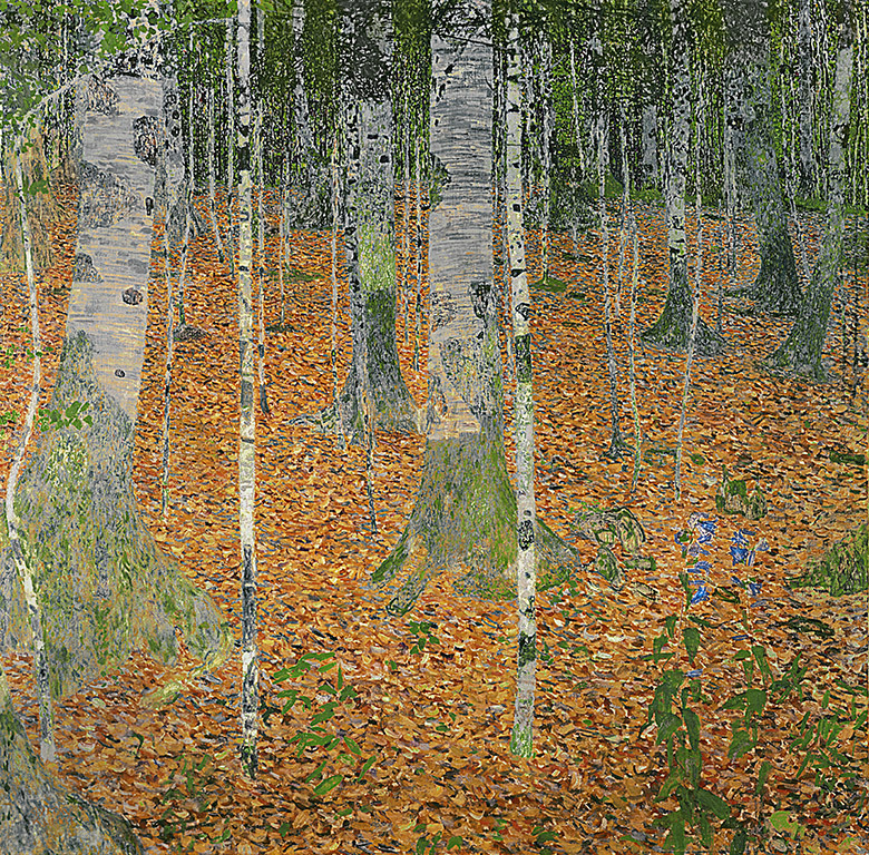 The Birch Wood, 1903, Gustav Klimt (1862-1918) / Private Collection / Bridgeman Images