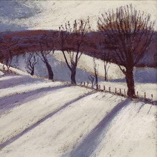 Long Shadows, Church Stretton, 2009 (pastel) by Sue Campion (Contemporary Artist)