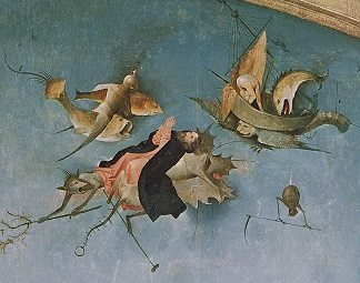 From the Triptych of the Temptation of St. Anthony (oil on panel) (detail), by Hieronymus Bosch (c.1450-1516) (after)