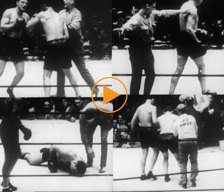 Jack Dempsey vs Jack Sharkey, boxing match at Yankee Stadium, July 21, 1927 / Film Images / Bridgeman Footage