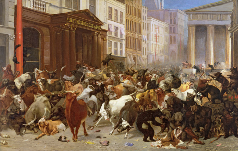 The Bulls and Bears in the Market, 1879 (oil on canvas), William Holbrook Beard (1823-1900) / © Collection of the New-York Historical Society, USA /