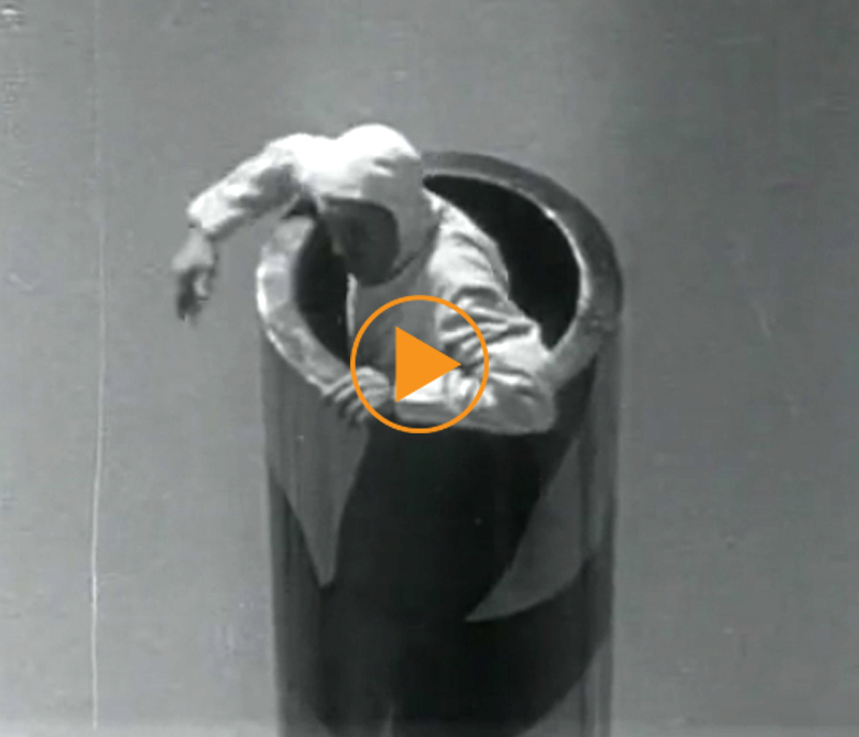 Human canonball 1950s USA / Bridgeman Footage
