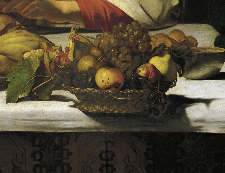 The Supper at Emmaus, 1601 (detail), Michelangelo Merisi da Caravaggio (1571-1610) / National Gallery, London, UK