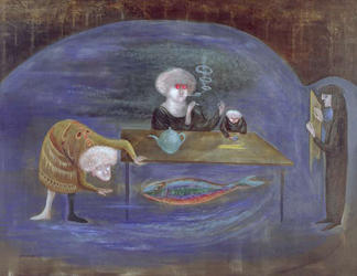 Friday, 1978 (oil on canvas) by Leonora Carrington/ Fred Jones Jr. Museum of Art, DACS