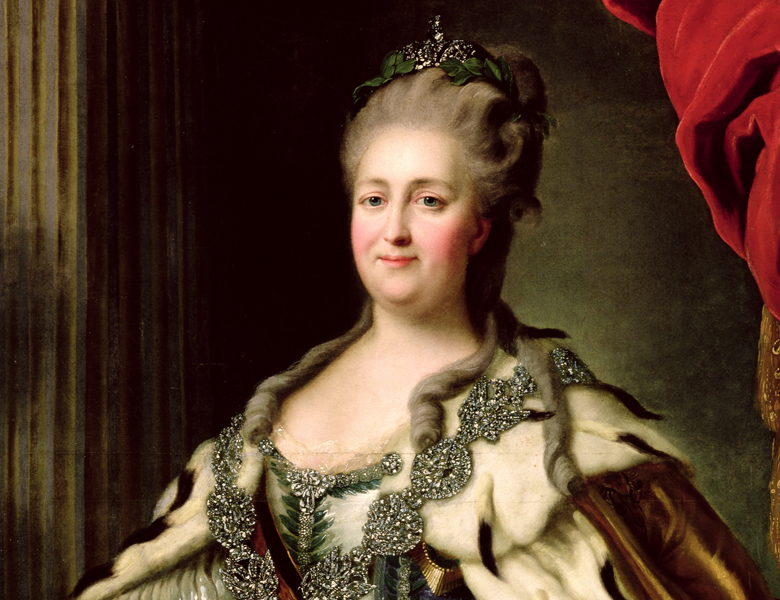 Portrait of Catherine II (1729-96) c.1770, Fedor Stepanovich Rokotov (c.1735-1808) / Hermitage, St. Petersburg, Russia