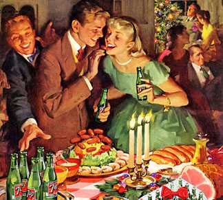 Detail of a magazine advert for 7Up, 1940s, American School, (20th century) / © The Advertising Archives