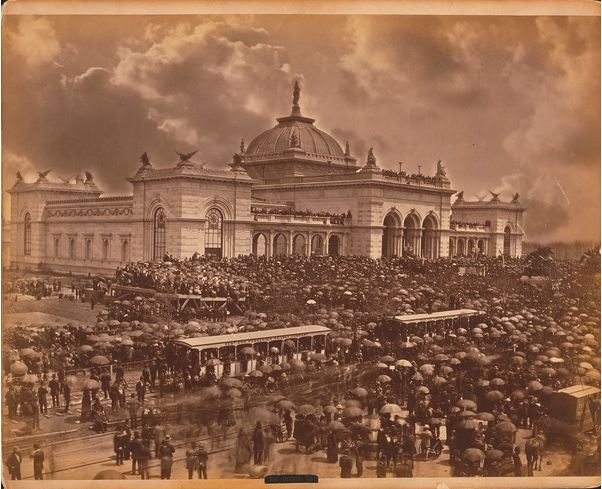 Opening day: the orators, c.1876 (albumen print), American Photographer / Free Library of Philadelphia / Print and Picture Collection