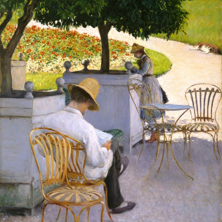 The Orange Trees or The Artist's Brother in His Garden / Gustave Caillebotte / Museum of Fine Arts, Houston / Museum purchase funded by Audrey Jones Beck / Bridgeman Images