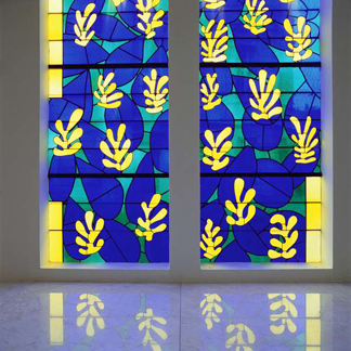 BAL309541 'Tree of Life' Stained glass behind the Altar in the Chapel of the Rosary at Vence, 1948-51 by Henri Matisse