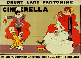 Poster for 'Cinderella' by Tom Browne (1872-1910) / R. Mander & J. Mitchenson Theatre Coll., London, UK