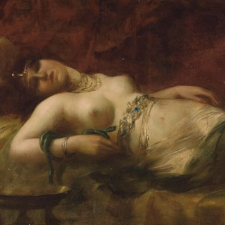 Cleopatra, late 19th century (oil on canvas), French School / Christie's Images