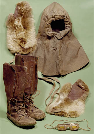 Scott's clothing used on the Antarctic expedition, 1901-4 by Scott Polar Research Institute, University of Cambridge, UK