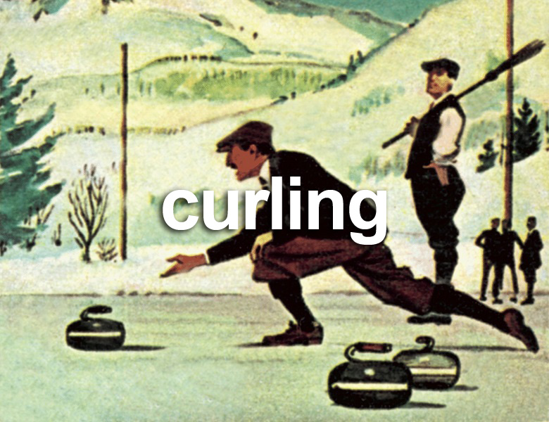 Curling, English School, (20th century) / Private Collection / © Look and Learn
