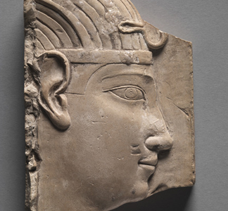Votive Relief of a King, Greco-Roman Period, 305 - 246 BC, Egyptian Ptolemaic period / Cleveland Museum of Art