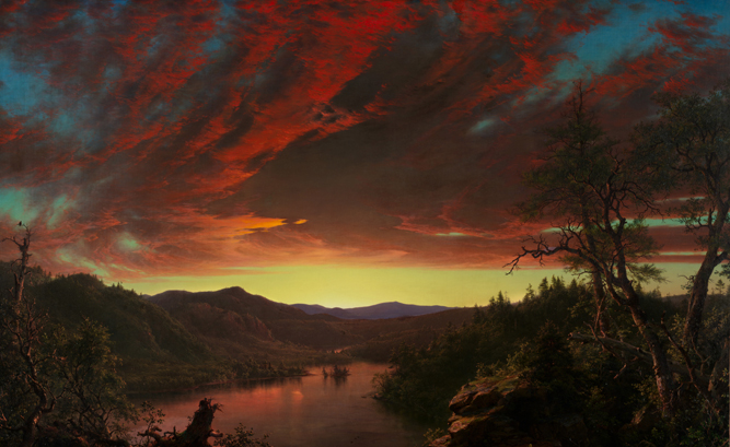 Twilight in the Wilderness, 1860 (oil on canvas) by Frederic Edwin Church / Cleveland Museum of Art