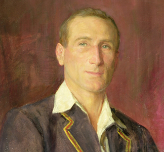 Portrait of D.R. Jardine who played for Oxford University, by Herbert Arnould Olivier(1861-1952) / © Marylebone Cricket Club, London, UK
