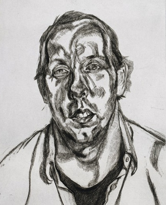 Portrait of David, 1998 (etching on paper) by Lucian Freud / Private Collection © The Lucian Freud Archive