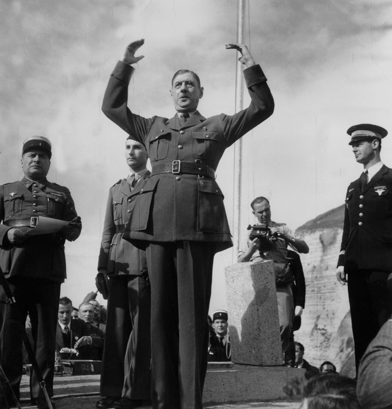 Charles De Gaulle in Bruneval, Northern France. 30 March 1947/ Photo © AGIP / Bridgeman Images