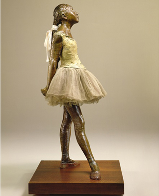 CLK339979 The Little Dancer of Fourteen Years, 1880-81 (bronze with textile) by Edgar Degas (1834-1917)</BR>Sterling & Francine Clark Art Institute, Williamstown, USA