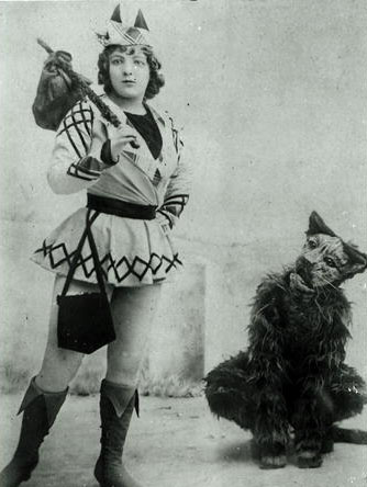 Marie Lloyd (1870-1922) as Dick Whittington in 1898 English Photographer / Private Collection
