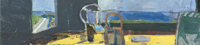 (Detail) Interior with View of the Ocean, 1957 by Richard Diebenkorn (1922-93) The Phillips Collection, Washington, D.C. USA