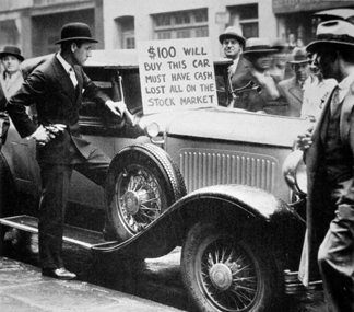PNP329553 Man selling his car, following the Wall Street Crash of 1929 by American Photographer (20th century), Private Collection/ Peter Newark American Pictures