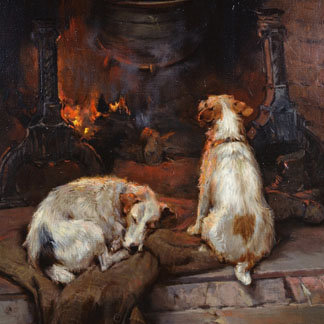 By the Hearth, 1894, Stretton, Philip Eustace (1884-1915) / Private Collection / Photo © Bonhams, London, UK