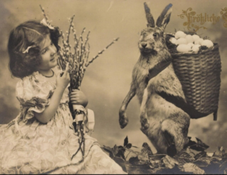 Easter greetings card, German School / Private Collection / © Arkivi UG All Rights Reserved / Bridgeman Images