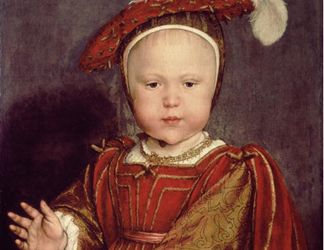 XJL62067 Portrait of Edward VI as a child, c.1538 (oil on panel) by Hans the Younger Holbein (1497/8-1543)</BR>National Gallery of Art, Washington DC, USA