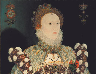 WGL44897 Queen Elizabeth I (1533-1603): The Pelican Portrait, c.1574 (oil on panel) by Nicholas Hilliard (1547-1619)</BR>Walker Art Gallery, National Museums Liverpool