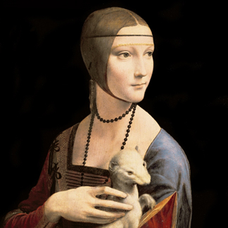 The Lady with the Ermine, 1496 (oil on walnut panel) by Leonardo da Vinci/ Czatoryski Museum, Cracow, Poland