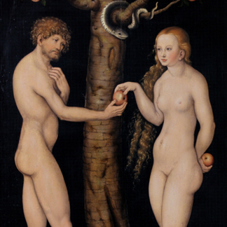 Adam and Eve in the Garden of Eden by Lucas Cranach the Elder / Museo Soumaya, Mexico City