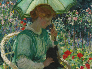 The Green Parasol, 1912 by Emmanuel Phillips Fox(1865-1915) National Gallery of Australia (detail)