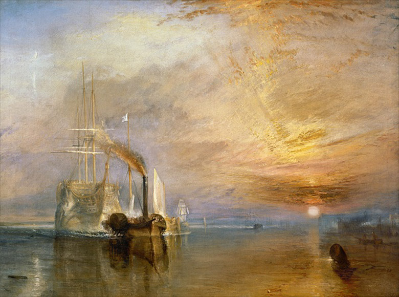 The Fighting Temeraire, 1839 (oil on canvas) by J.M.W. Turner  (1775-1851) / National Gallery, London, UK