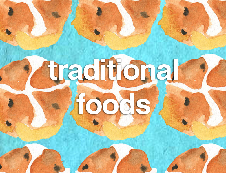 Traditional foods around the world including, of course, chocolate!