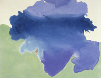 (detail) The Bay, 1963 (acrylic on canvas) by Helen Frankenthaler/ Detroit Institute of Arts, DACS