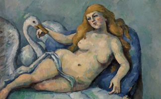 BRN157058 Leda and the Swan, c. 1880 (oil on canvas) by Paul Cezanne / The Barnes Foundation, Merion, Pennsylvania