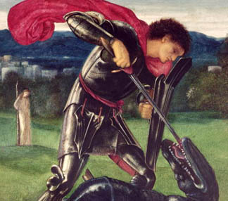 MH11879 St. George and the Dragon, 1868 Sir Edward Burne-Jones (1833-98) William Morris Gallery, Walthamstow, UK
