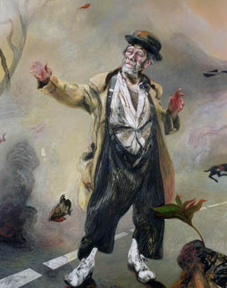 Max as Godot's Vladimir by Maggi Hambling / © Whitworth Art Gallery, The University of Manchester, UK