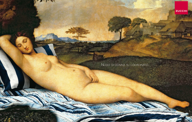 Giorgione's Sleeping Venus or... Zucchi's 'Nude women with co-ordinated bed set'