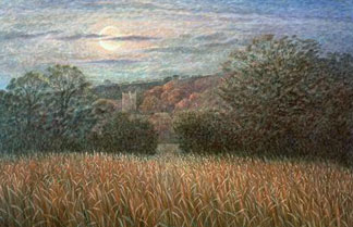 Harvest Moon, Samuel Palmer (1805-81) / Private Collection / Bridgeman Images