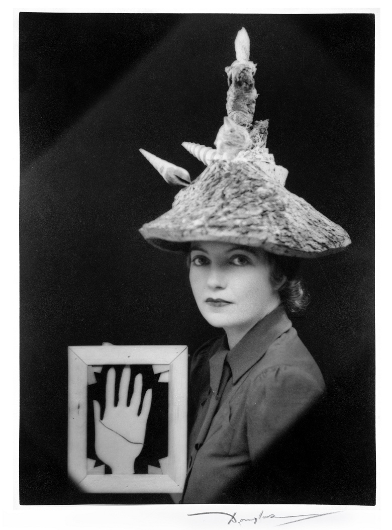 Ceremonial Hat for Eating Bouillabaisse, 1936 (b/w photo) by Eileen Agar (private collection) / Estate of Eileen Agar
