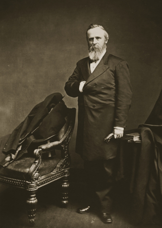 STC398844 Rutherford B. Hayes (photogravure) by Mathew Brady/ The Stapleton Collection