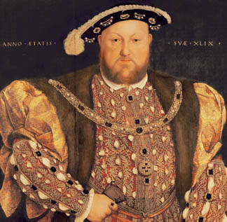 XIR135311 Portrait of Henry VIII (1491-1547) aged 49, 1540 by Holbein the Younger, Hans (1497/8-1543)